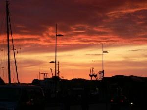 A stunning sunset over Bergen harbour