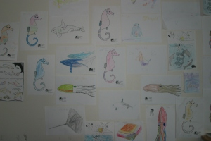 This summer, so many children have helped us to turn the ORCA room into a fantastic, brightly coloured gallery!