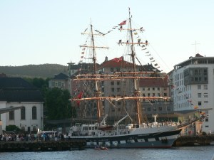 The tall ships arrive in Bergen