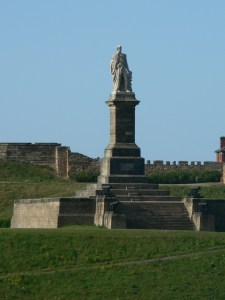 Lord Admiral  Collingwood, ready to greet you as you enter through the breakwater at Newcastle