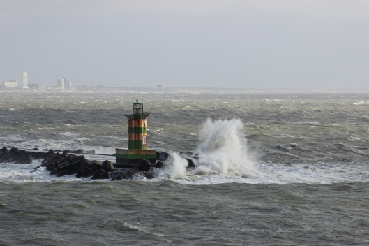 Just a bit rough outside of Ijmuiden!!