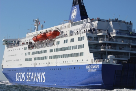 DFDS King viewed during my speedboat training!