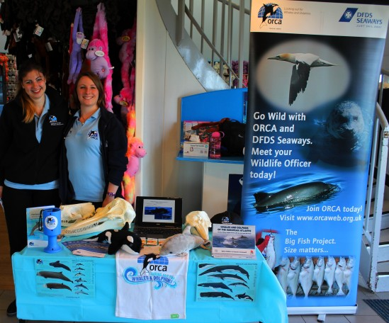 Moira (left) Ruth (right) at the Blue Reef Aquarium for World Ocean's Day