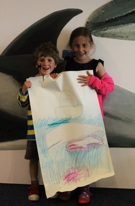Fantastic whale drawings in the ORCA centre by Danielle and Cox