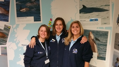 Ruth (left), Beckie (middle) & Rachael (right) in the ORCA Centre