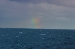 A rainbow in the distance