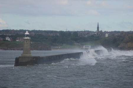 The Tyne Walls in the rough weather